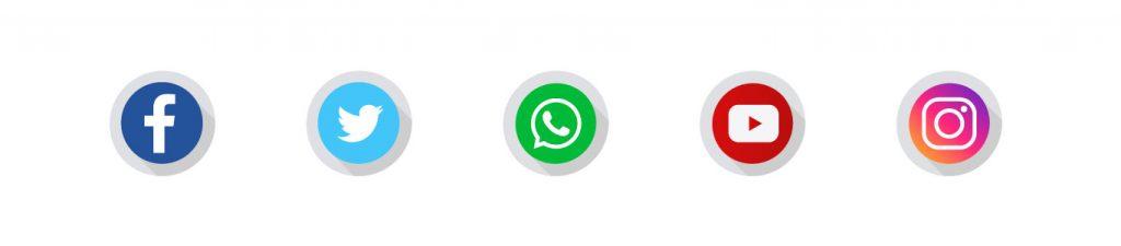 Social Media Icon Banner